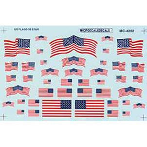 HO US Flags, 50-Star 1960+ (MSIMC4202)