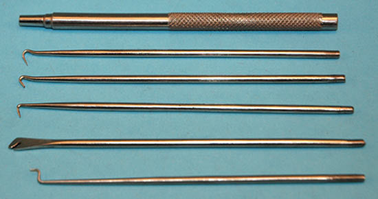 MODEL EXPO 5 Pc. Ss Spring Hook Set With Knurled Handle (MT1005)