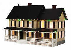 MTH O Country House With Operating Christmas Lights (MTH3090519)