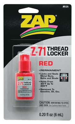 Zap Adhesives Red Thread Locker .20 oz (PAAPT71)