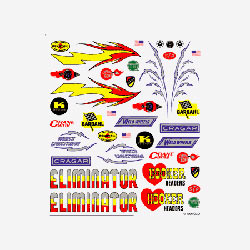 PineCar Dry Transfer Decals, Hot Rod (PIN314)