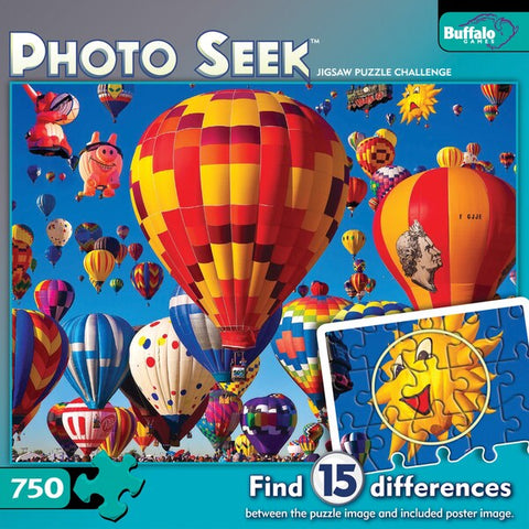 Photo Seek Hot Air Balloons Jigsaw Challenge 750-piece Puzzle  (17033)