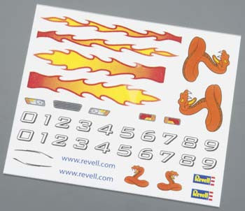 Revell Pinewood Derby Dry Transfer Decal A (RMXY9619)