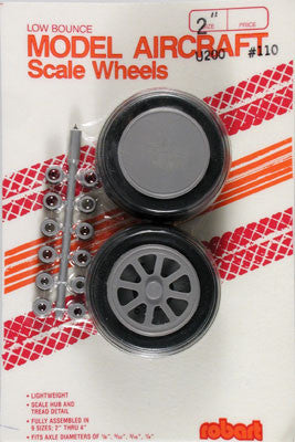 "Robart Scale Wheels 2"" (2)  (ROB110)"