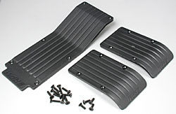 RPM 3-Piece Skid/Wear Plate Black T/E-Maxx (RPM80112)