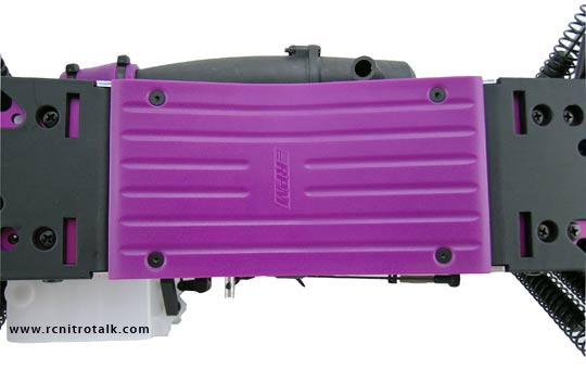 RPM SAVAGE CENTRE SKID PLATE PURPLE