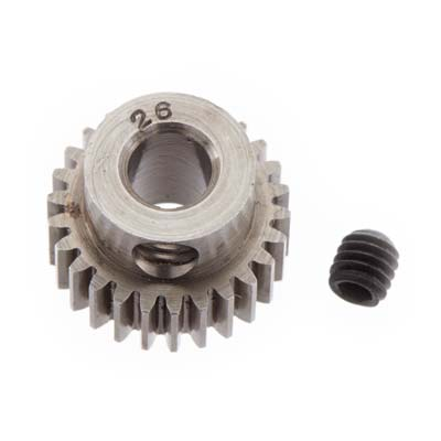Robinson Racing Pinion Gear Hard 48P 26T 5mm  (RRP2026)