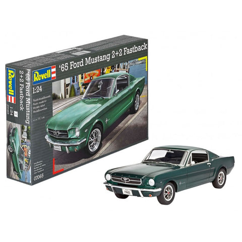 1/24 1965 Ford Mustang 2+2 Fastback Car Model Kit  (RVL7065)