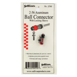 Sullivan 2-56 Aluminum Ball Link with Locking Sleeve (Red) (SULS590)