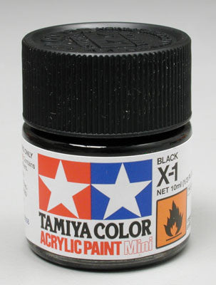 Tamiya Acrylic Mini X-1 Black 1/3 oz (TAM81501)