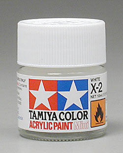 Tamiya Acrylic Mini X-2 White 1/3 oz (TAM81502)