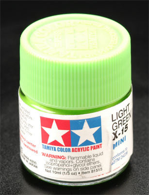 Tamiya Acrylic Mini X-15 Light Green 1/3 oz (TAM81515)