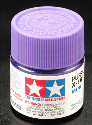 Tamiya Acrylic Mini X-16 Purple 1/3 oz (TAM81516)