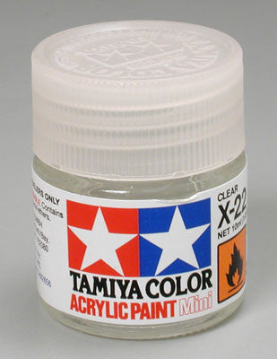 Tamiya Acrylic Mini X-22 Clear 1/3 oz (TAM81522)