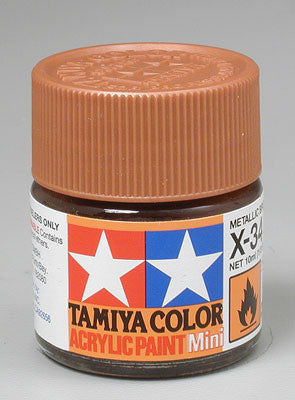 Tamiya Acrylic Mini X-34 Metallic Brown 1/3 oz (TAM81534)