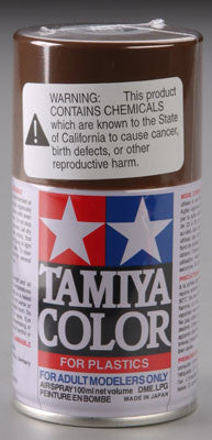 Tamiya Spray Lacquer TS-1 Red Brown 3 oz  (TAM85001)