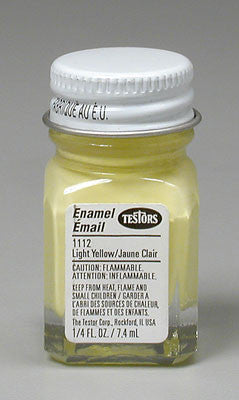 Testors Light Yellow 1/4 oz (TES1112TT)