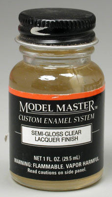Model Master Semi-Gloss Clear 1 oz (TES201616)