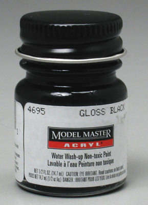 Testors Model Master Gloss Black FS17038 1/2 oz (TES4695)
