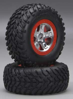 Traxxas Red Tires & Wheels Assembled Slayer (TRA5973A)