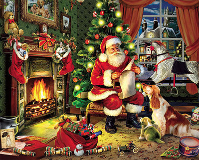 Christmas Santa Checking it Twice Puzzle (1000pc) (WMP486)