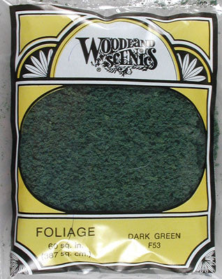 Woodland Scenics FOLIAGE DARK GREEN (WOOF53)