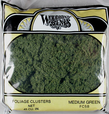 FOLIAGE CLUSTER MED GREEN (WOOFC58)