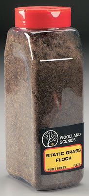 Woodland Scenics Static Grass Flock Burnt Grass 32 oz(WOOFL633)