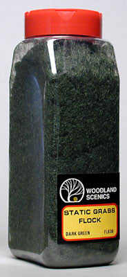 Woodland Scenics Static Grass Flock Dark Green (WOOFL636)