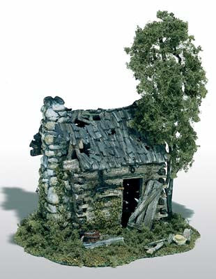 Woodland Scenics Abandoned Log Cabin Kit HO (WOOM101)