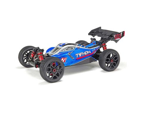Arrma Typhon 6S BLX Brushless RTR 1/8 4WD Buggy (Blue/Silver) (ARAD80BS)