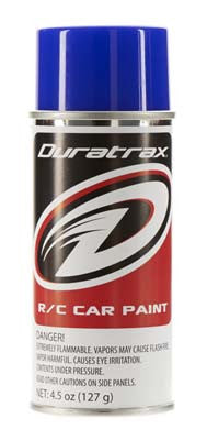 Duratrax Polycarb Spray Blue Flash 4.5 oz (DTXPC252)