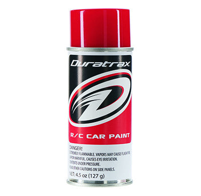 Duratrax Polycarb Spray Racing Red 4.5 oz (DTXPC254)