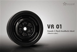 Gmade 1.9 VR01 Beadlock Wheels (Black) (2) (GMA70104)