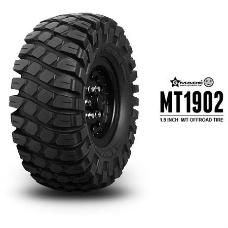 Gmade Gma70244 1.9 Mt 1902 Off-Road Tires (2) Tires, Wheels, Inserts (GMA70244)