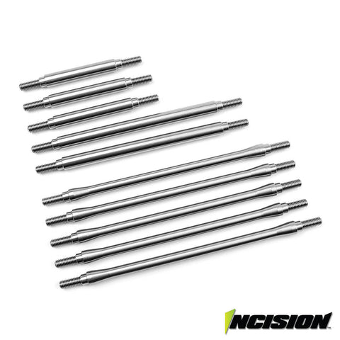 Incision TRX-4 Stainless Steel 10pc Link Kit - Stock Wheelbase  (IRC00200)