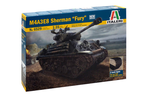 Italeri 1/35 M4A3E8 Sherman Easy-Eight Fury Tank  (ITA6529)
