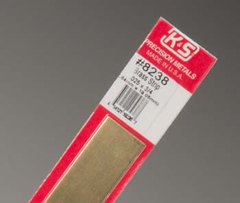 "K&S Brass Strip .025x3/4"" (K+S8238)"