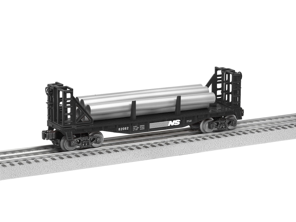 Lionel Norfolk Southern Flatcar with Bulkheads (LNL682082)