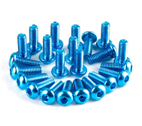 3x8 Blue Aluminum 7075 Screws (4) (HAM5076-3X8(4)