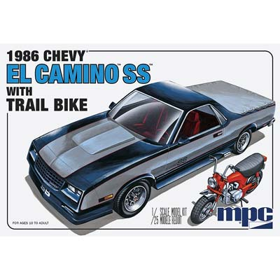 MPC 1/25 1986 Chevy El Camino SS w/Dirt Bike  (MPC888)