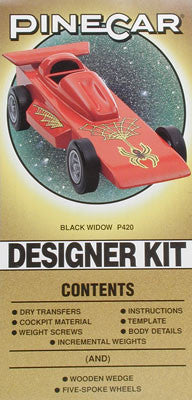 PineCar Complete Desnr Kit Black Widow (PINP420)
