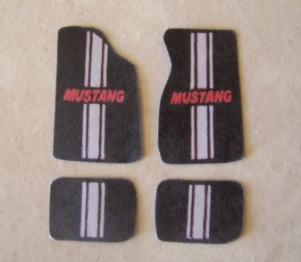 Plastic Dreams 1/25 Mustang w/Grey Stripe Car Mat Set (PTD102)