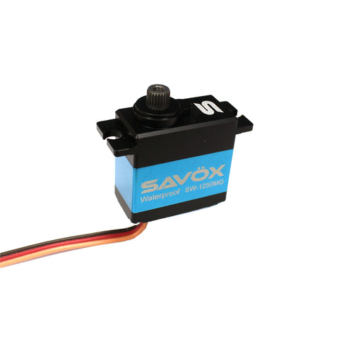 Savox Waterproof Premium Mini Digital Servo .10/111.1@6.0V, Ideal for Traxxas 1/16 Scale (SAVSW1250MG)