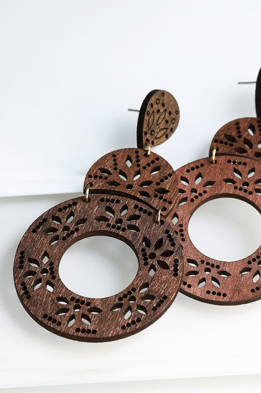 *Semi Circle with Circle Wood Filigree*