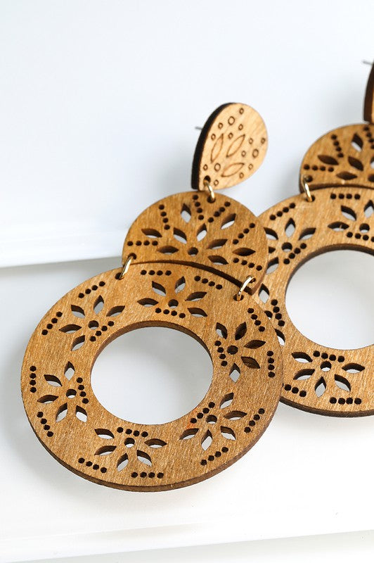 Semi Circle with Circle Wood Filigree