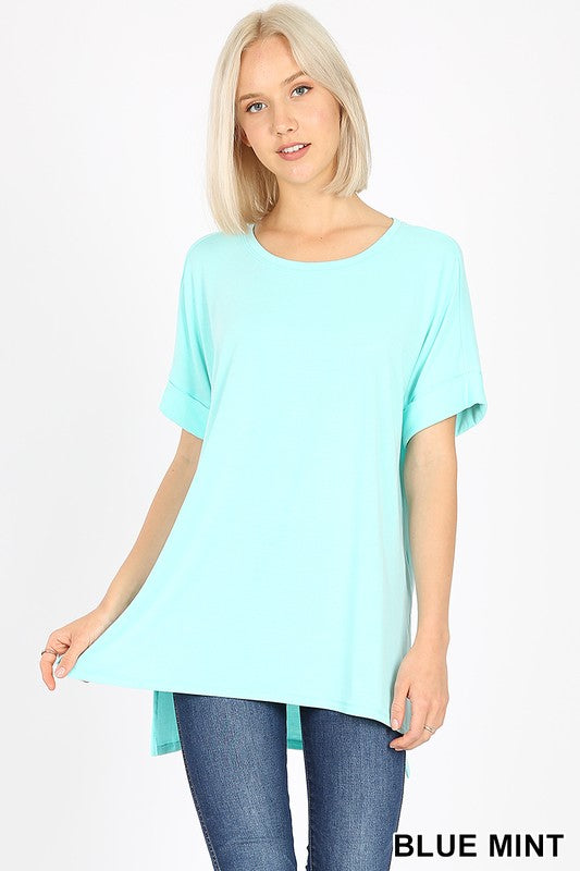 Rolled Sleeve Top
