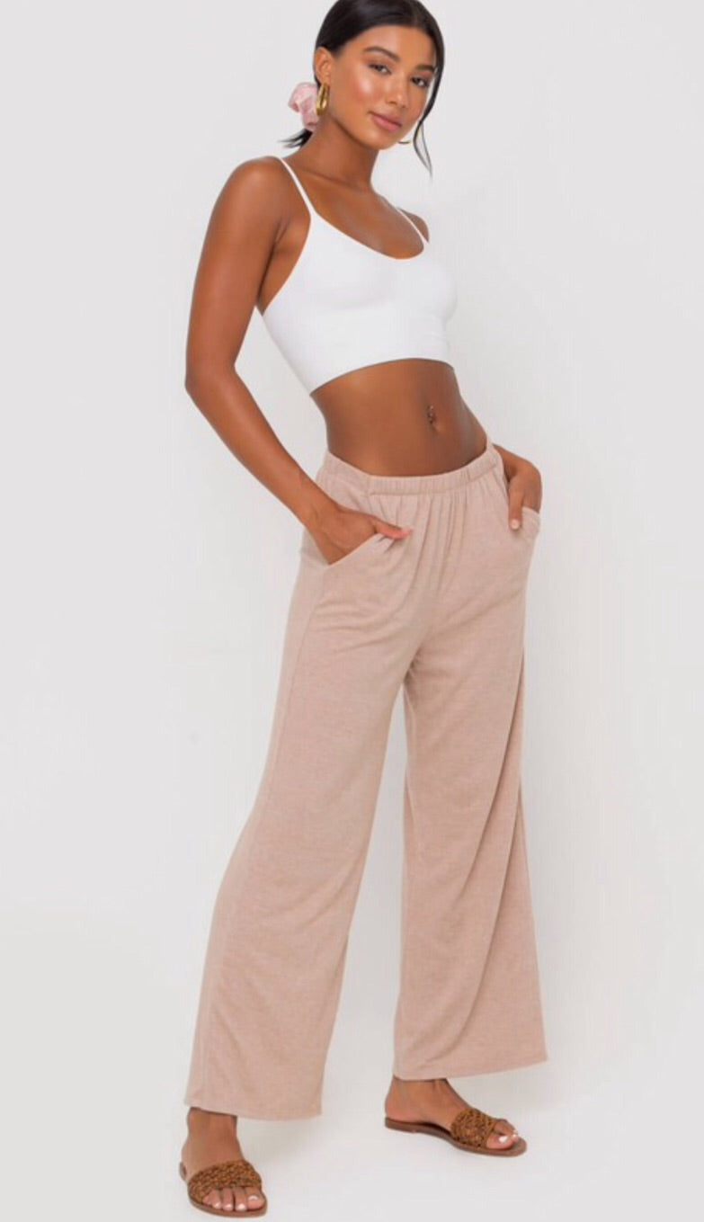 Pink Ruched Top and Matching Pants