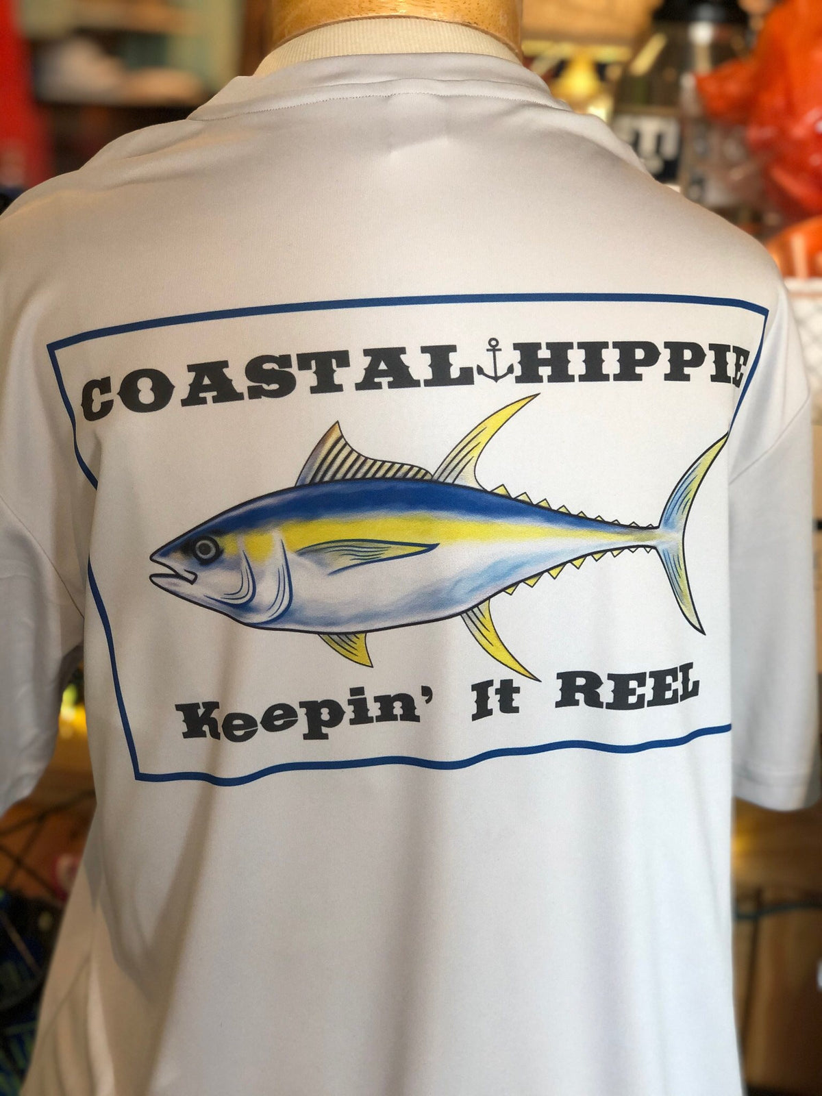 Coastal Hippie Keepin' It Reel Dri-Fit Tee