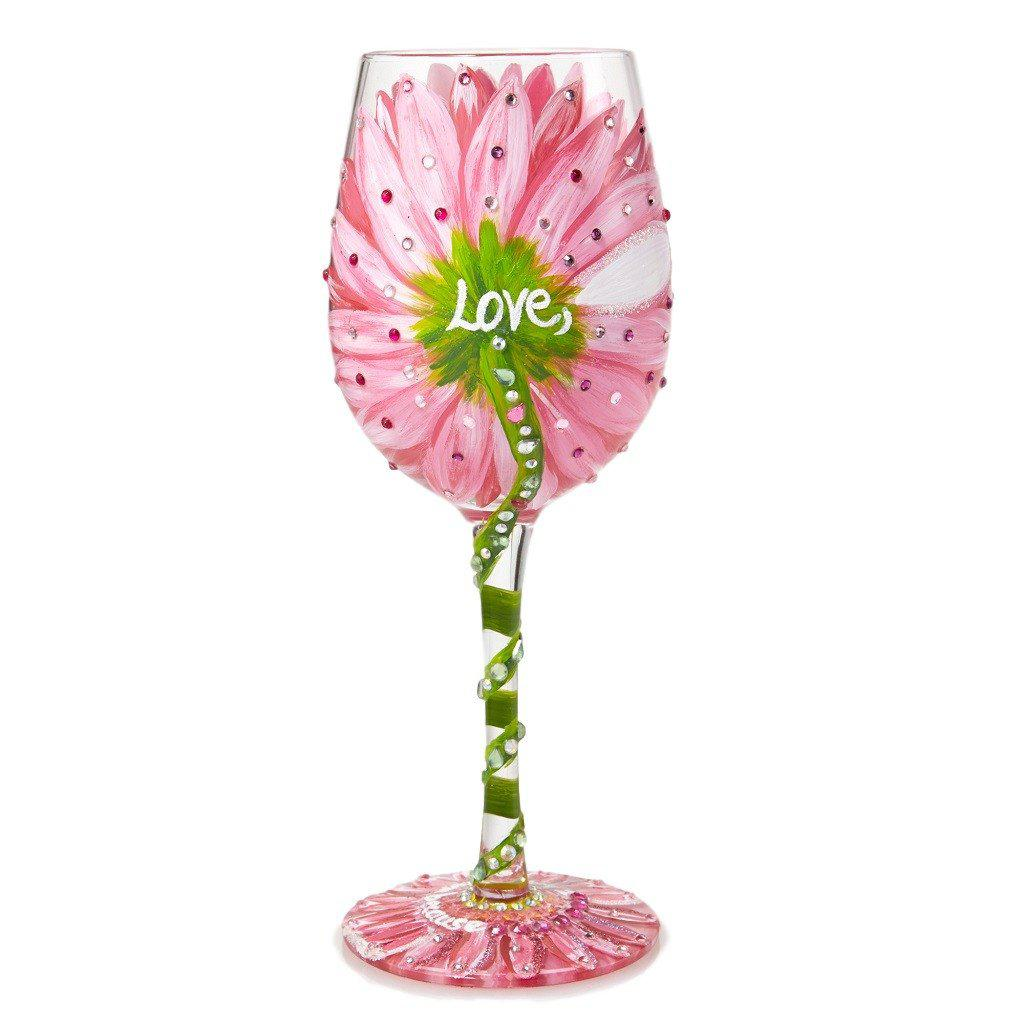 Mom's Love in Bloom Wine Glass by Lolita®-Lolita Wine Glasses.com